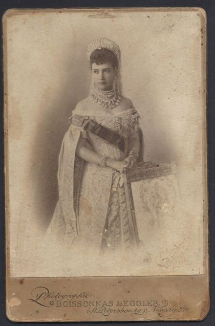 Dowager Empress Maria Feodorovna Romanov Dagmar of Denmark Antique Cabinet Photo